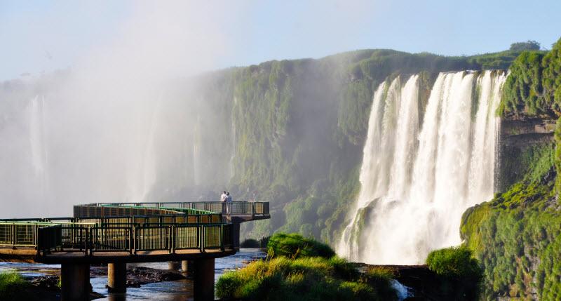 Brazil and Argentina share the Iguazu Falls