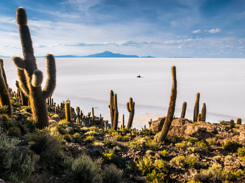 The salt flats at Uyuni, Bolivia