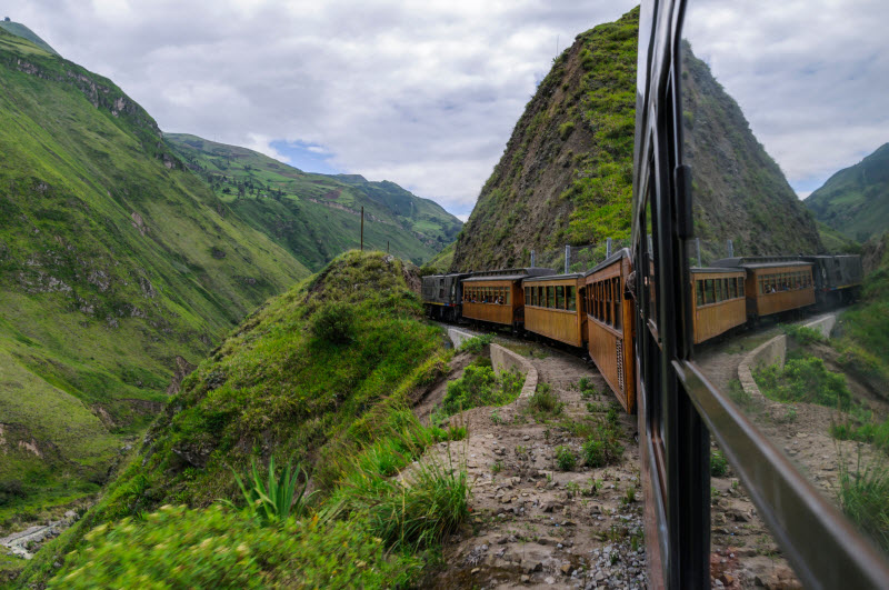 Train ride in the Andes of Ecuador